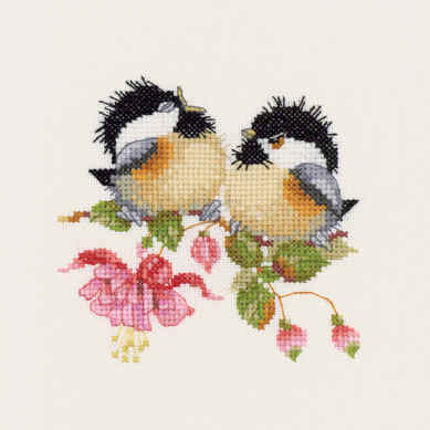 Fuchsia Chick-Chat - Valerie Pfeiffer Chickadee