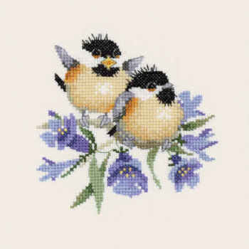 Bluebell Chick-Chat - Valerie Pfeiffer Chickadee