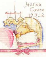 Birth Sampler -  Huggies Bedtime - Bothy Threads