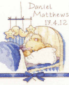 Birth Sampler -  Huggies Bedtime - Bothy Threads