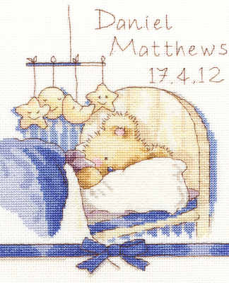 Birth Sampler -  Huggies Bedtime - Bothy Threads *NEW*