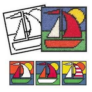 Boat Tapestry Kit - New 'Colouring in' range