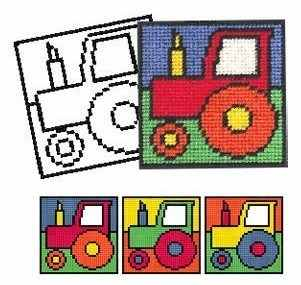 Tractor Tapestry Kit - New 'Colouring in' range