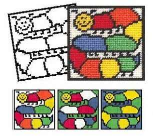 Caterpillar Tapestry Kit - New 'Colouring in' range