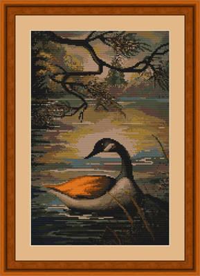 Duck on Lake - Luca-S Cross Stitch Kit