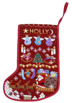 Red Stocking Xmas Tapestry