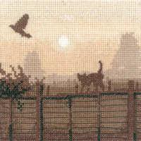 Lucky Escape - Sepia Cross Stitch