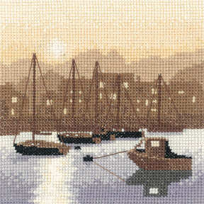 Harbour Lights - Sepia Cross Stitch