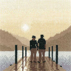 First Light - Sepia Cross Stitch