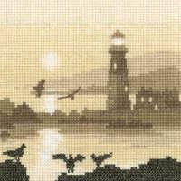 Guiding Light - Sepia Cross Stitch