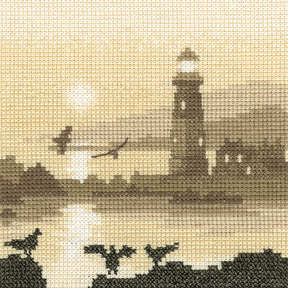 Guiding Light - Sepia Cross Stitch