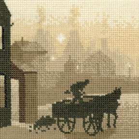 The Coalman - Sepia Cross Stitch