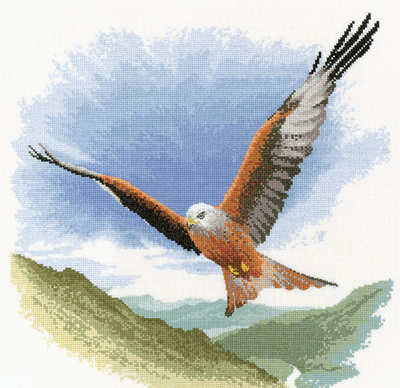 Red Kite in Flight - John Clayton Cross Stitch