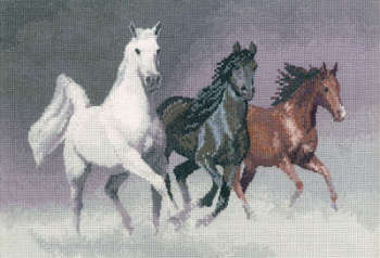 Wild Horses - John Clayton Cross Stitch