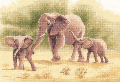 Elephants - John Clayton Cross Stitch