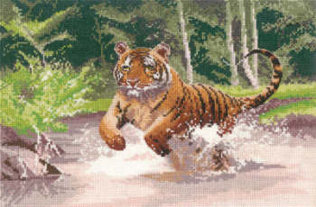 Tiger - John Clayton Cross Stitch