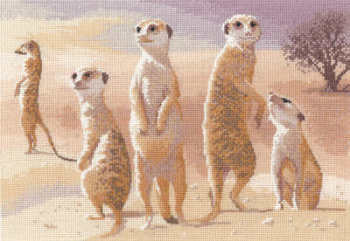 Meerkats - John Clayton Cross Stitch