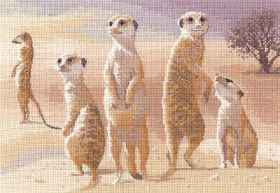 Meerkats - John Clayton Cross Stitch