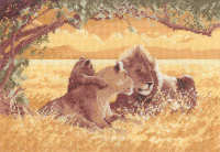 Lions - John Clayton Cross Stitch