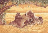 Lions - John Clayton Cross Stitch
