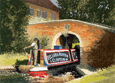 Under the Bridge - John Clayton Cross Stitch