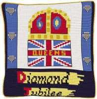 Union Jack Diamond Jubilee - Chunky Cross Stitch Kit