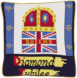Union Jack Diamond Jubilee - Chunky Cross Stitch Kit