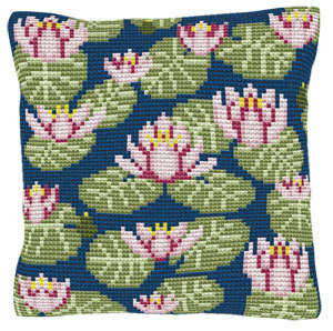 Waterlillies - Cross Stitch Kit (printed canvas)