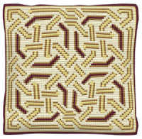 Gold Celtic -  Cross Stitch Kit (printed canvas)