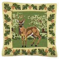 Roe Deer -  Cross Stitch Kit (printed canvas)