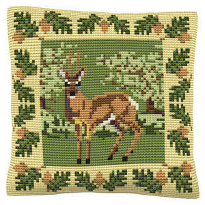 Roe Deer -  Cross Stitch Kit (printed canvas)
