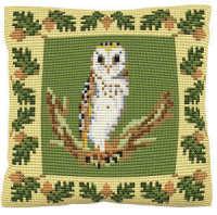 Barn Owl -  Cross Stitch Kit (printed canvas)
