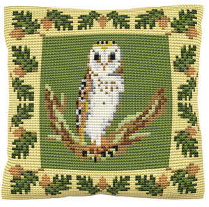 Barn Owl -  Cross Stitch Kit (printed canvas)