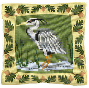 Heron -  Cross Stitch Kit (printed canvas)