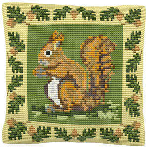 Red Squirrel -  Cross Stitch Kit (printed canvas)