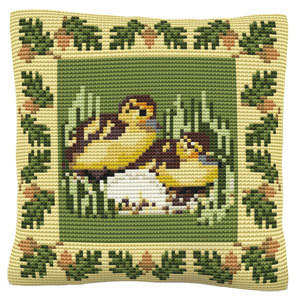 Ducklings -  Cross Stitch Kit (printed canvas)