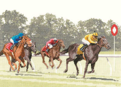 Finishing Post - Horse Racing Cross Stitch