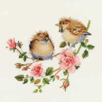 Rose Chick-Chat - Valerie Pfeiffer Chickadee