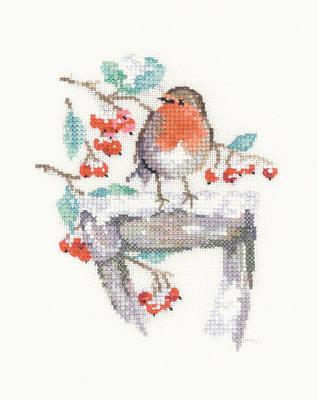 Watching - Sue Hill Robin Cross Stitch Kit