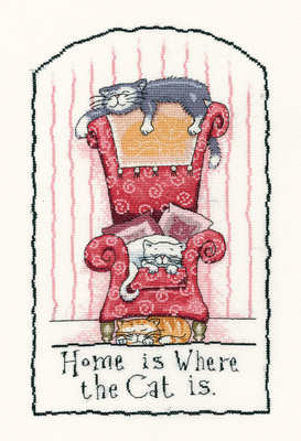 Home is where the Cat is - Peter Underhill Cross Stitch