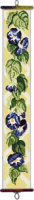 Morning Glory Floral Bellpull (Printed Cross Stitch Kit)