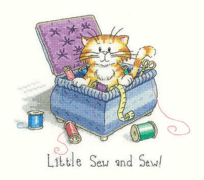 Little Sew  and Sew - Peter Underhill Cat Cross Stitch