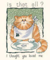 HERITAGE CRAFTS CATS AND BISCUITS COUNTED CROSS STITCH KIT PETER UNDERHILL NEW