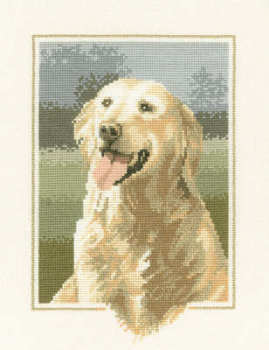 Golden Retriever Cross Stitch  - John Stubbs