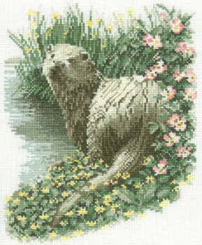 Otter Cross Stitch Kit  - John Stubbs