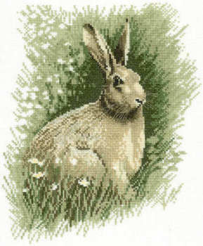 Brown Hare Cross Stitch Kit  - John Stubbs