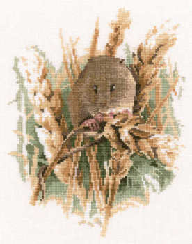 Harvest Mouse Cross Stitch Kit  - John Stubbs