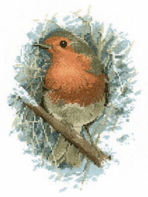 Robin Redbreast Cross Stitch Kit  - John Stubbs