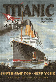 Titanic Ship - Heritage Crafts Cross Stitch