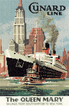 Queen Mary Ship - Heritage Crafts Cross Stitch